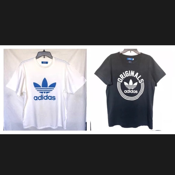 2d615e392 adidas Shirts | Authentic Tee Men Shirt L Whiteblueblack | Poshmark